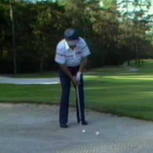 Chipping Out of a Sand Trap - Lee Trevino
