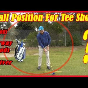 Golf Swing Fundamentals - Ball Position For Tee Shots