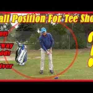 Golf Swing Fundamentals - Ball Position For Tee Shots