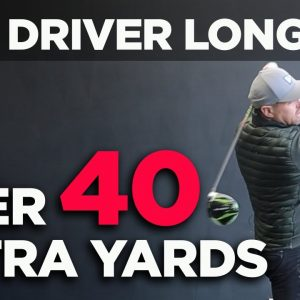 HIT YOUR DRIVER OVER 40 YARDS FURTHER SWINGING AT THE SAME SPEED