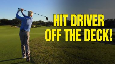 How to Hit a Driver Off the Deck (Low Running BULLET)!!