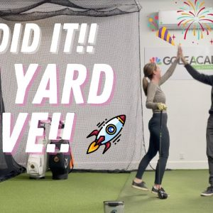SHE BUSTS HER DRIVER 301 YARDS 😱💪HOW HITTING UP ON DRIVER GETS YOU 50 TO 80 YARDS!🚀