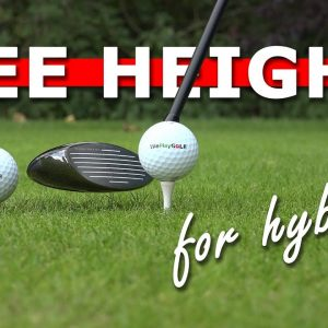 Perfect tee heigh for hybrids - hit your hybrid further from the tee