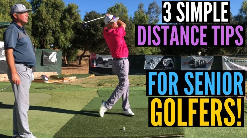 Senior Golfers:  3 Simple Tips for More Driver Distance!