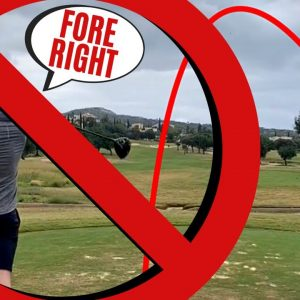STOP HITTING DRIVER RIGHT! - HIGH HANDICAP GOLF LESSON!