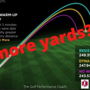 WARM UP FOR GOLF: Gain yards off the first tee