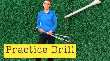 Golf range practice drill