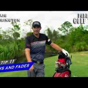 HITTING DRAWS AND FADES | Paddy's Golf Tip #11 | Padraig Harrington