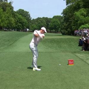 Rory McIlroy Driver Hit 372 Yards at Wells Fargo Championship Final Round 2021
