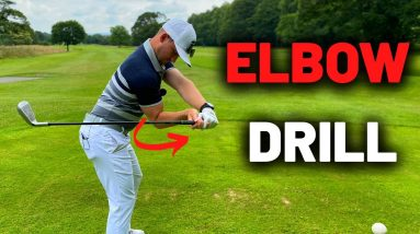 The effortless way to swing the golf club! ELBOW DRIVER MOVE