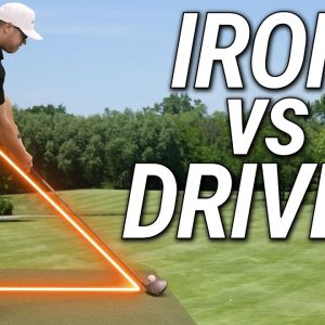 How To Stand Correctly To The Golf Ball | Iron vs Driver